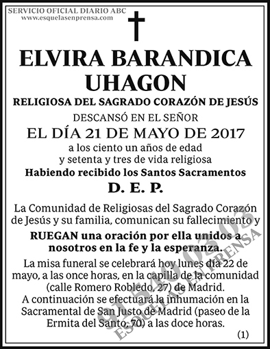 Elvira Barandica Uhagon